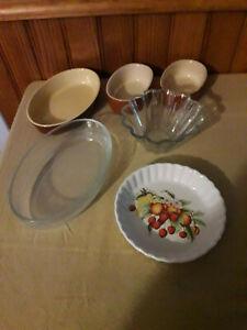 Lot de 6 petits moules à gâteaux individuels, plats à four