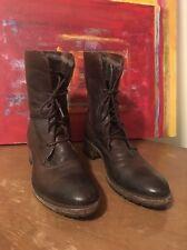 Vintage Shoe Company Brown Leather Lug Sole Boots Sundance Catalog Size 9