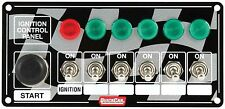 QUICKCAR IGNITION PANEL ,QRP50-166, PLUS 5 Accessory switches with lights