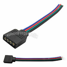 30 pcs Female 4 Pin RGB Connector Wire Cable Cord For 5050 3528 LED Strip Lights