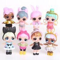 LOL Surprise Doll Blind Mystery PVC figurines lot de 8 poupées d'enfant gateaux