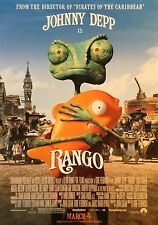 RANGO Movie Poster - RANGO Original Medium Size Print ~ Johnny Depp