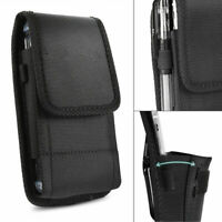 For Motorola Moto E7 Phone Wallet Case Nylon Holster Pouch with Belt Clip Loop