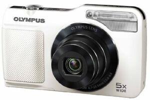 Olympus DigitalCamera Vg-170 Lcd Wide White 14 Million Pixels 5X Optical