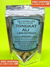 Tongkat Ali 200:1 Root Extract  50 Capsules(**500mg **)(Pasak bumi) Longjack