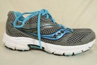 Saucony Cohesion 12 Gray Turquoise Mesh Athletic Running Sneaker Shoe Womens 9.5