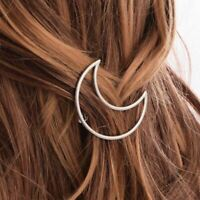 Crescent Moon Hair Clip Girl's Plated Hollow Hairpin Anime Sailor Moon Cosplay