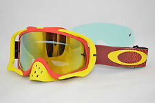 Maschera Oakley Crowbar Mx Shockwave Red Yellow 24 Irid. oo7025-36 Cross Enduro