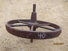 """N0--40---VINTAGE CAST  STEEL  WHEEL   BARROW  WHEEL  -14   """" --1 1/2  """" w"""