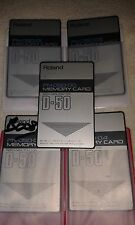 ROLAND  5  CARD PN-00-01-02-03/04  X ROLAND D50/550 PERFETTE