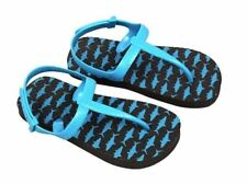 NEW Toddlers Flip Flops - Black w/ Blue Baby Sharks  - Size L 9T/10T