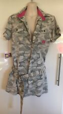 NWT Golf Punk Camouflage Very Mini dress With Belt Or Long Top Size 12