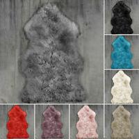 Extra Thick Sheepskin Rug Fluffy Mat For Living Room Bedroom Faux Fur Carpet