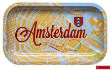 Rolling Tray / Brösel-Unterlage aus Metall - Motiv: AMSTERDAM MAP 16cm x 27cm
