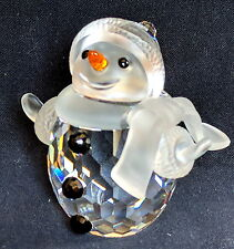 Swarovski Crystal Snowman 7475 605 w Vial of Crystals, Original Box Excellent