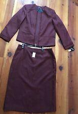 Ladies jacket Skirt set Sz 18 Burgundy Mother of the Bride Church Emily NWT $200