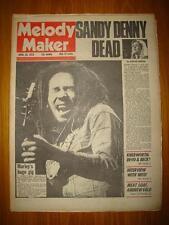 MELODY MAKER 1978 APR 29 SANDY DENNY DIES BOB MARLEY
