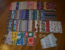 HUGE LOT Vintage 1970s Gift Wrap Wrapping Paper Tags Flat Sheets Nearly 2.5 Lbs!