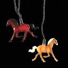 KURT S. ADLER NOVELTY RUNNING HORSE CHRISTMAS LIGHTS 10 LIGHT SET