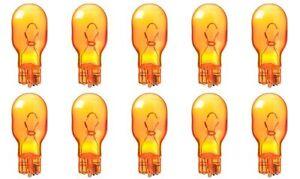 10x 906 Amber Bright Wedge Car Mini Orange Lamp Light bulbs Yellow 12v 906NA Lot