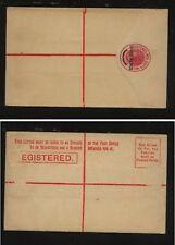 New South Wales  postal  registered revalued envelope unused            MS1205