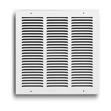 """Truaire Stamped Face Return Air Grille, 20""""x16"""" White"""