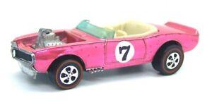 1970 Hot Wheels Redline Light My Firebird Spectraflame Hot Pink white interior
