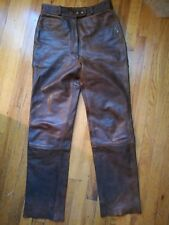 Leather motorcycle pants, women's,size42,Hein Gericke, handmade in Germany,lined
