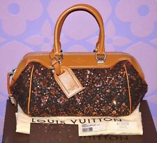 Louis Vuitton $3160 *SUNSHINE EXPRESS* Wooly BABY Souple Gold Sequin Bag LIMITED