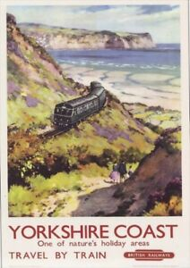 British Railway | Yorkshire Coast | Travel By Train | Vintage Poster A1, A2, A3