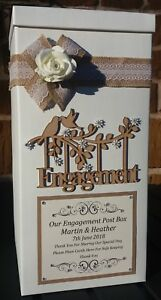 Engagement Card Post Box, Engagement Gifts, Wishing Well, Keepsakes