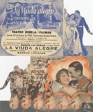 Programa PUBLICITARIO de CINE: LA VIUDA ALEGRE.