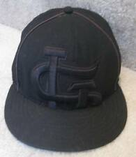MLB St. Louis Cardinals Baseball Hat Cap All Black Sized 7 1/8