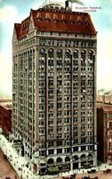 Busy Street View Chicago IL Illinois Masonic Temple 1900's V O Hammond Postcard