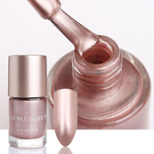 9ml Rose Gold Metallic Nail Polish Mirror Effect Nails Varnish Manicure Tools