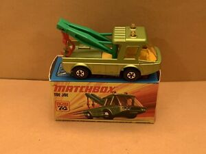 Matchbox Superfast No. 74 Toe Joe Green Body, Circle Design On Jibs, 5 Spoke
