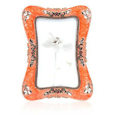 Taylor Avedon Orange/ Black Metal and Enamel Rectangle Frame New in the Box