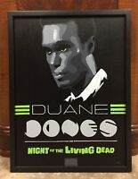 Night Of The Living Dead Duane Jones Original Art Hand Painted Movie Poster