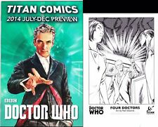 Titan-2014-Doctor Who preview Special-Doctor Who Four Doctors Promo Sketch Card