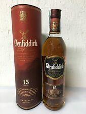 GLENFIDDICH 15 YEARS SINGLE MALT SCOTCH WHISKY SOLERA  40% VOL 70 CL