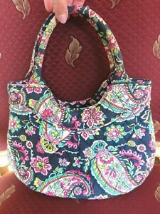Vera Bradley Petal Paisley handbag purse blue green pink yellow floral
