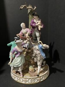 """Large Meissen Porcelain Musical Group 14.5""""tall"""