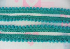 Teal Green Mini Pom Pom Ball Fringe Infant Sewing Craft Embroidered Braid Woven