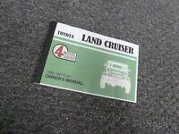 1962-1963 Toyota Land Cruiser FJ40 Owner Operator Manual User Guide 4WD