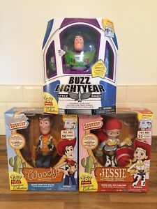 Toy Story Signature Collection Woody Buzz Lightyear & Jessie Movie Replica NEW
