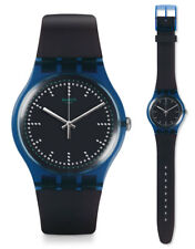Swatch Blue Pillow Watch suon121 Analogue Silicone Dark Blue