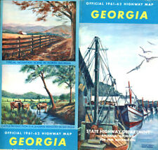 Vintage 1961-2 Georgia Road Map from GA State Highway Department