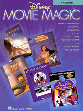"""DISNEY """"MOVIE MAGIC"""" INSTRUMENTAL SOLOS FOR TRUMPET-MUSIC BOOK-BRAND NEW ON SALE"""