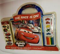 Disney Cars 2 Activity Book, Sticker, Paint & Draw Set *NIP*