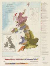 MAPPA Tettonica di Gran Bretagna e Irlanda del Nord. Geological Survey 1966